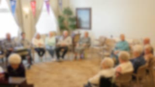 Old Folks Listening To A Recital In A Retirement Home