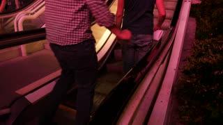 People On An Escalator On The Las Vegas Strip