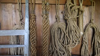 Ropes And Equipment Inside The Old Cowboy Barn