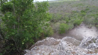 View from on top of Mayan ruin in Coba near Tulum Mexico