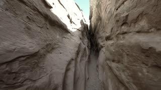Walking through little wild horse slot canyon