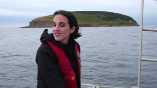 Woman On A Commercial Fishing Boat In Cape Breton Island