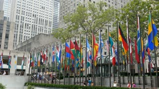 Flags at Rockefeller Center, Manhattan, New York City