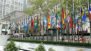 Rockefeller Center Flags , Manhattan, New York City