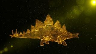 Stegosaurus, prehistoric extinct dinosaur, fantasy 3D animation