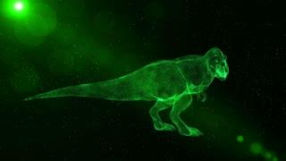 Tyrannosaurus Rex, prehistoric extinct dinosaur roaring, fantasy 3D animation