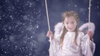 Beautiful girl dressed as an angel 1