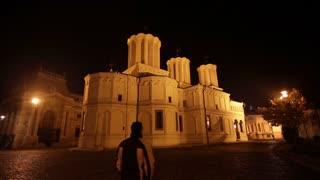 Bucharest, Romania. Night.