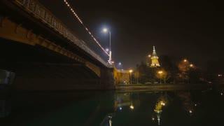 Capital of Timis County, Banat, Western Romania. Night.