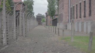 Concentration Camp - pavilion and fence 2