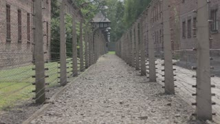 Concentration Camp - pavilion and fence 4
