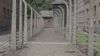 Concentration Camp - pavilion and fence 5