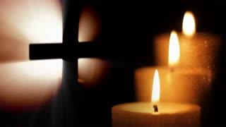 Cross - three candles