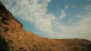 Desert canyon of Wadi Kelt in Israel, cca. 2015