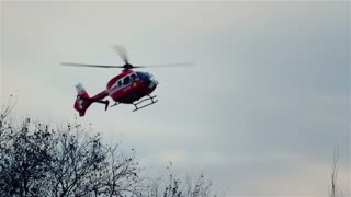 Medical emergency helicopter unit.
