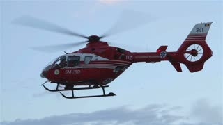 Medical emergency helicopter unit.
