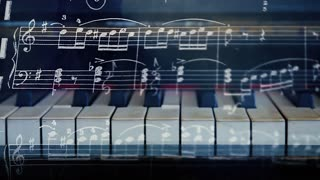 Music animated background.