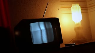 Old TV with Static Noise - 3 shots