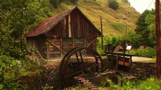 Old water mill - montage