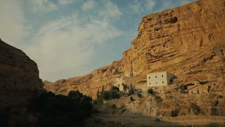 Orthodox Monastery of St. George - one of the oldest monasteries in world, is located in the lower valley Kelt in the Judean desert in Palestinian Authority, 5 km from Jericho.
