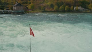 Rhine Falls near Schaffhausen in Switzerland - circa 2012.