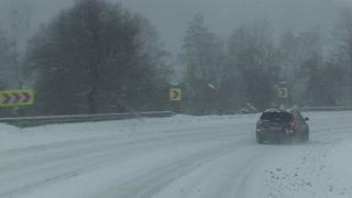 Snowy winter road.