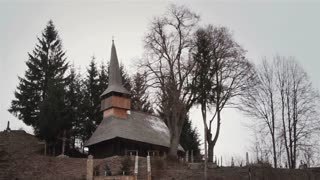 Traditional wooden church from Transylvania, Romania.