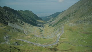 Transfagarasan mountain road considered one of the most beautiful roads in the world.