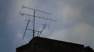 TV Antenna on the roof.
