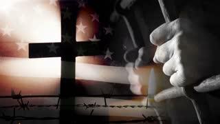 US flag - prisoner