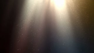 Animation of light rays and dust particles