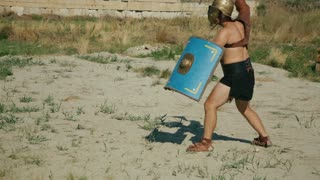 Battle of two gladiators