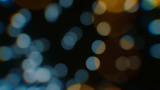 Bokeh Background - gold and blue