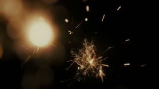 Celebration glowing sparklers