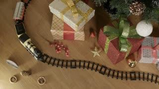 Christmas train - copy space