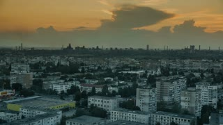 Cityscape at sunset - time lapse