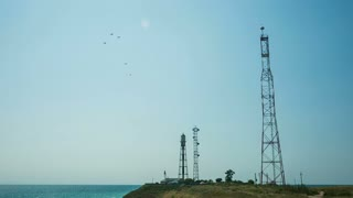 Coastal radar station at the Black Sea