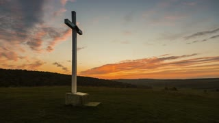 Cross on the hill at sunset - ELS