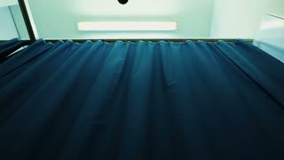 Curtain of a hospital room - dolly shot