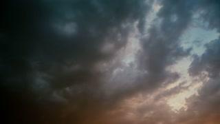 Dark epic clouds - pan shot