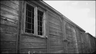 Detail of holocaust train in Romania