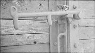 Door detail of holocaust train in Romania - ECU