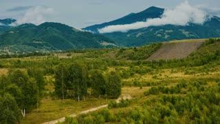 Hills and mountains - pan shot