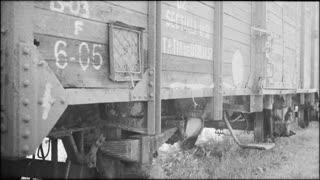 Holocaust train in Romania - low angle