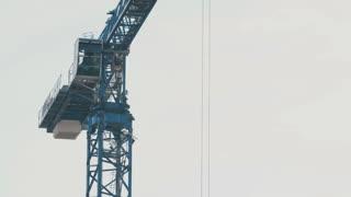 Huge load-lifter crane on a construction site - ECU