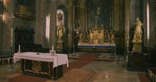 Interior of a catholic church - altar LS