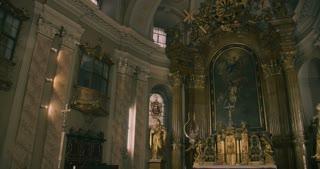 Interior of a catholic church - altar MS