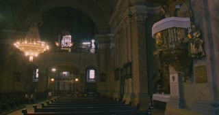 Interior of a catholic church - empty