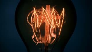 Light bulb with cross - CU