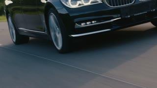 Luxury car rolling on the road - ECU